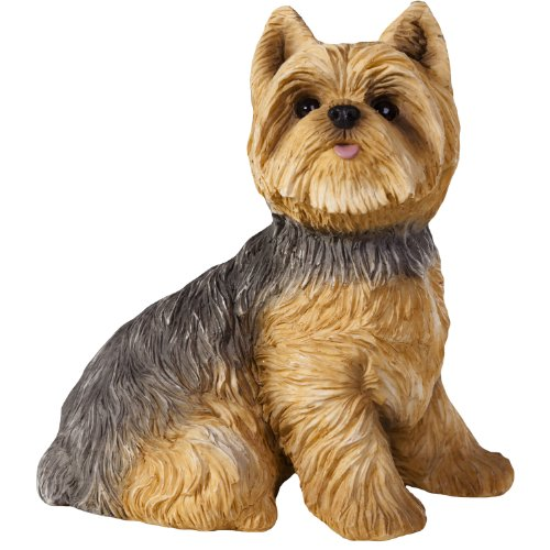 Sandicast Yorkshire Terrier Sculpture, Sitting, Small Size ()