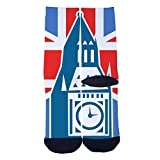 british clock - British Clock Socks Funny Women And Men Comfortable 100% Cotton Customized Winter Socks Black