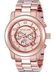 Michael Kors Mens Runway Rose Gold-Tone Watch MK8096