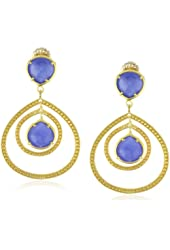 "Coralia Leets Jewelry Design ""Riviera Collection"" Small Frames Double Post Earring"