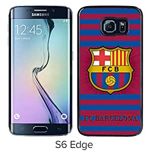 Popular Custom Designed Cover Case For Samsung Galaxy S6 Edge With Barcelona Black Phone Case 6