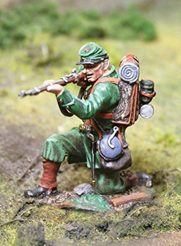 Civil War Toy Soldiers Union Berdan's Sharpshooters Infantry, Kneeling Shooting Figure Collectors Showcase Toy Soldiers Painted Metal Figure 54mm-56mm CS00787 Britains Type