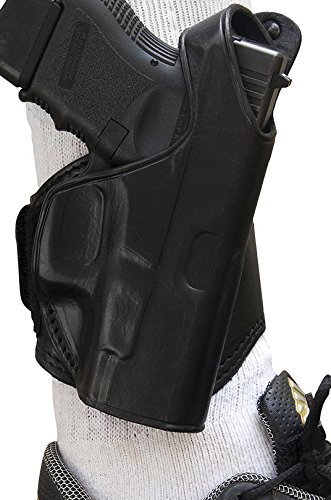 Holster Hand Ankle Right Black - Tagua LANK-330 Glock 26-27-33 Leather Ankle Holster, Black, Right Hand