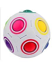 EVST Cubo esférico Magic Rainbow Ball 3D Puzzle de fútbol Magia Speed Cube Niños juguetes educativos para niños inteligentes