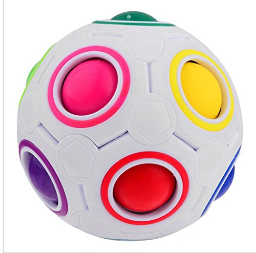EVST Cube sphérique Magic Rainbow Ball 3D Puzzle Football Magic Speed Cube Jouets éducatifs pour enfants intelligents
