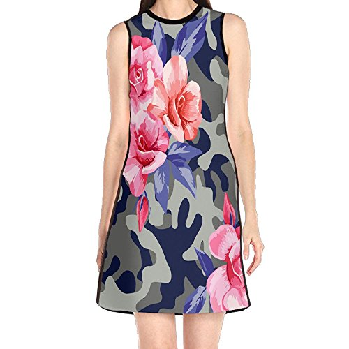 Fashion Camo Military City Women's Lady Sleeveless Mini Dress Print Party Dress Tank Dress