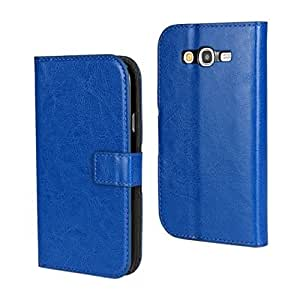 MOONCASE Flip Leather Wallet Card Pouch Stand Back Case Cover For Samsung Galaxy Grand Duos I9080 / Neo (I9060) Blue