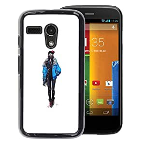 FU-Orionis Colorful Printed Hard Protective Back Case Cover Shell Skin for Motorola Moto G 1 1ST Gen - Goth Girl