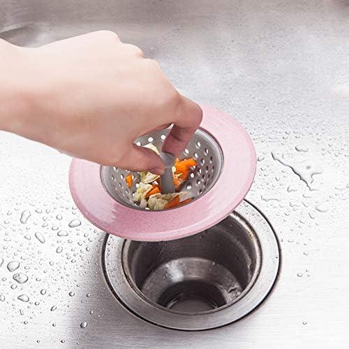 Chytaii Filtro de Alcantarilla Tap/ón Lavabo Drenaje de Piso Coladores de Desag/üe Fregadero Ducha Filtro de Silicona para Fregadero Lavabo Ba/ño Cocina Suave Color N/órdico 11cm