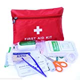 Portable First Aid Emergency Kit,Firwood Medical Survival First Aid Waterproof Bag,Alcohol Pad Bandge for Camping Hiking Travel-34 Pieces