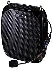 Portable Voice Amplifier SHIDU Personal Speaker Microphone Headset Rechargeable Mini Pa System for Teachers