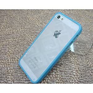 QJM The Silica Gel Protective Sleeve TPU Transparent Backboard for IPhone6(Assorted Color) , Blue