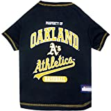 MLB OAKLAND ATHLETICS Dog T-Shirt, Small. - Licensed Shirt for Pets Team Colored with Team Logos
