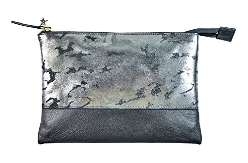 Borsa Laino Collezione Fashion Accessories Argento By Donna Pelle In Camouflage Pochette Industry Antico rwXRarq