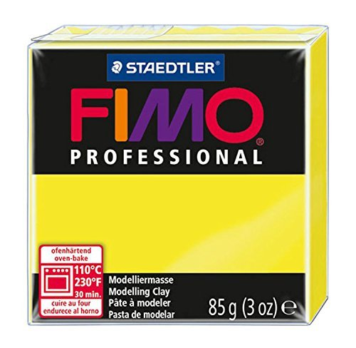 Fimo Professional Modelling Clay, Lemon Yellow, 85 g by Fimo