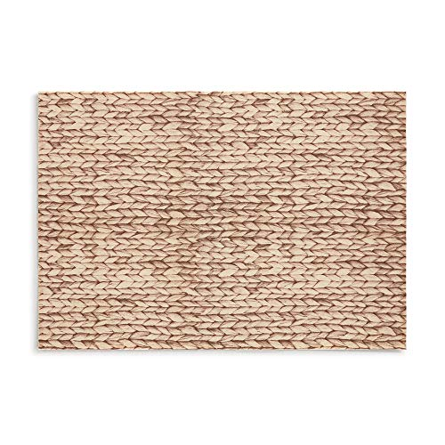 DAY DRAP Material Collection Raffia Placemats for Dinner Table, Stain-Resistant, Non-Slip Dining Place Mats, Set of 4 -
