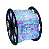 WYZworks 2x150Ft 110V LED Rope 2 Wire Flexible DIY Light Multi-RGB | UL & CSA Certified