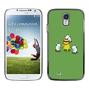 Paccase / SLIM PC / Aliminium Casa Carcasa Funda Case Cover para - Animal Cartoon Lion Green - Samsung Galaxy S4 I9500