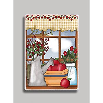 Apples and Berries in a Country Window Refrigerator Magnet