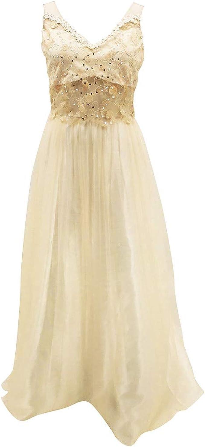 Lulupi Damen Abendkleid Lang Glitzer Kleider Cocktailkleid