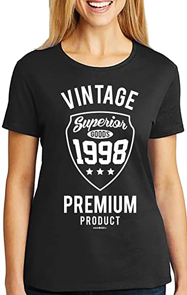 21st Birthday Gifts For Her Vintage Premium 1998 T Shirt Amazoncouk Clothing