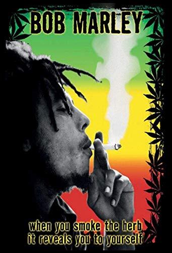 YFULL Tin Sign with Bob Marley Smoke a Joint Marijuana Herb Cannabis Design 8