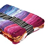 SOLEDI Embroidery Floss Cross Stitch Thread 150 Skeins Friendship Bracelets Floss Embroidery Thread Premium Rainbow Color
