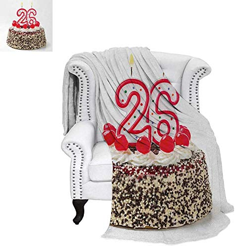 Sweet Cakes Flannel - Custom Design Cozy Flannel Blanket Yummy Cake Sweet Anniversary Delicious Dessert with Cute Candles Picture Lightweight Blanket 70