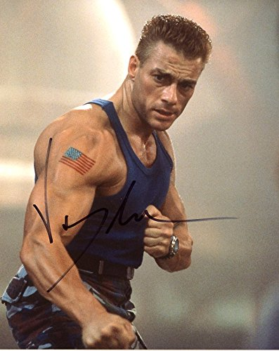 Jean Claude Van Damme UNIVERSAL SOLDIER In Person Autographed Photo by Ed Bedrick Autographs