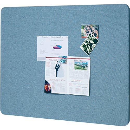 (Quartet Fabric Bulletin Board, 4' x 3', Frameless, Oval Office, Light Blue (7684BE) )