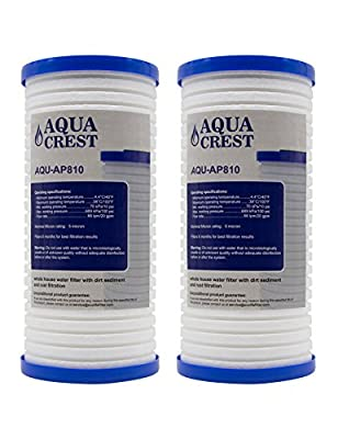 AQUACREST Whole House Water Filter, Compatible with 3M Aqua-Pure AP810, AP801, Whirlpool WHKF-GD25BB, 5 Micron (Package May Vary)(Pack of 2)