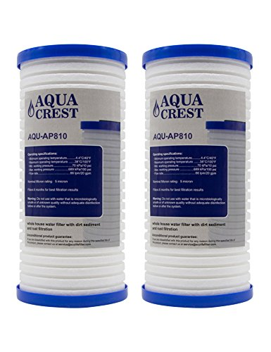 AQUACREST AP810 Replacement for 3M Aqua-Pure AP810, AP801, Whirlpool WHKF-GD25BB, 5 Micron Whole House Water Filter (Package May Vary)(Pack of 2) by AQUACREST