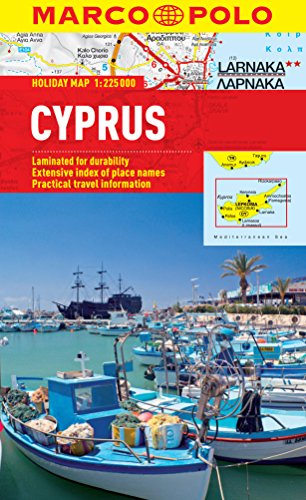 Cyprus Marco Polo Holiday Map (Marco Polo Holiday Maps)