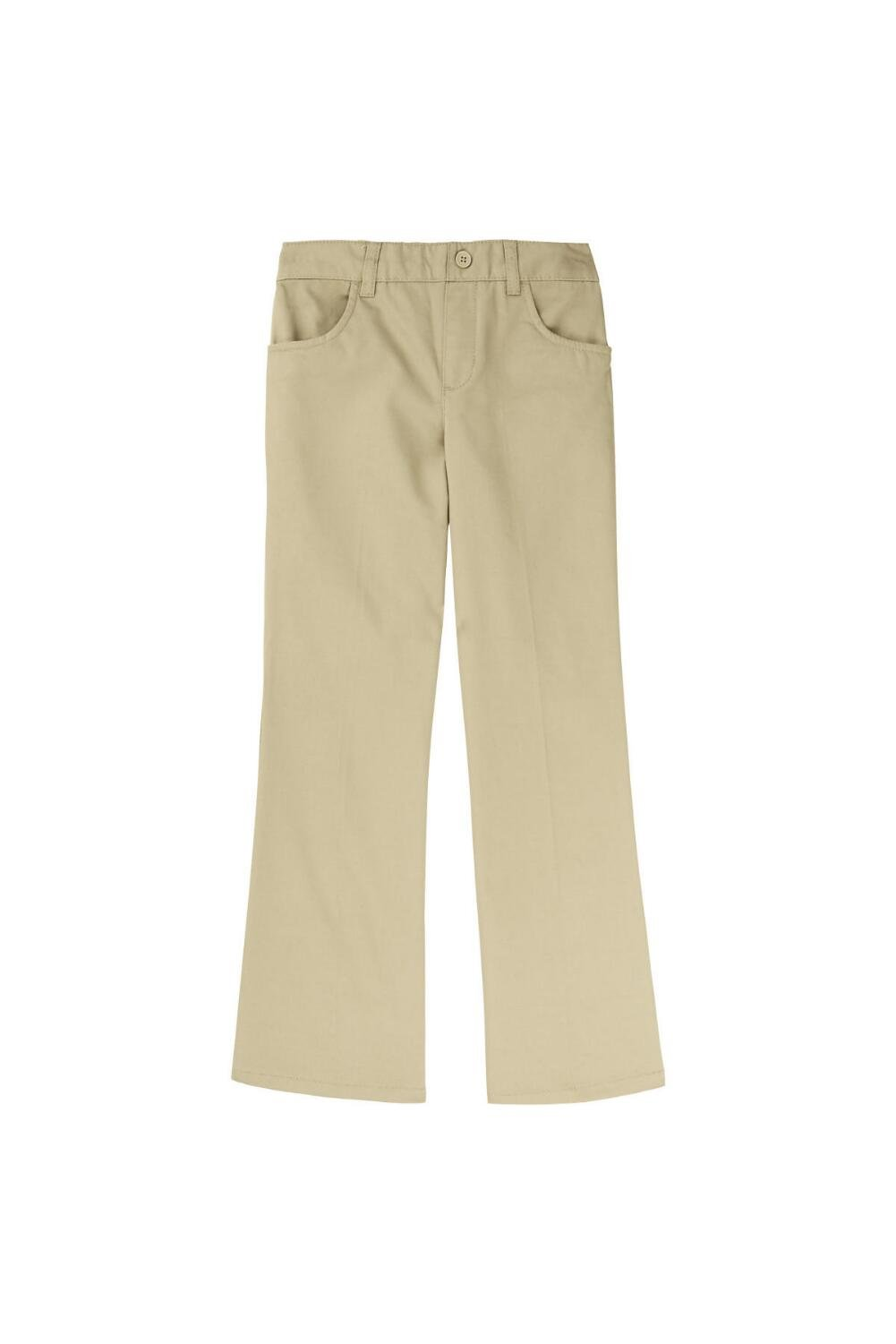 French Toast Little Girls' Pull-On Pant, Khaki, 4T