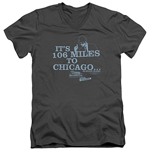 The Blues Brothers Comedy Music Band Movie Chicago Adult V-Neck T-Shirt Tee
