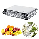 Bewinner Silver Plant Reflective Film 210 x 120cm Garden Greenhouse Covering Foil Sheets, Highly Reflective, Effectively Increase Plants Growth, 100% Environmentally Safe