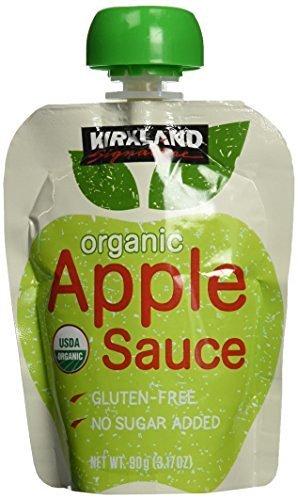3 Packs :Kirkland Signature Organic Applesauce - 24 Pouches - 3.17 oz. Each