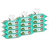 Seventh Generation Baby Wipes, Free & Clear Unscented and Sensitive, Gentle as Water, Refill, Pack of 12 (Total 768 Count)