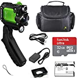 Olympus Tough TG-Tracker Action Camera (Green) + SanDisk Ultra 32GB microSDHC Memory Card + Carrying Case