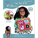 WWJD Pink Knot and Sew Kit, Best Kit on the Market for Children Crafts, that Reinforces What Would Jesus Do, This Sew and Stuff Activity is Ideal for Girls and Boys Ages 5-13 Years Old.