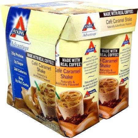 Atkins Advantage RTD Shakes Cafe Caramel Latte, 4/11 OZ (3 Pack Bundle) by Atkins