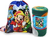 Disney / Northwest Mickey Mouse Fleece Throw Blanket & Sling Tote Bag - 2 pc Set