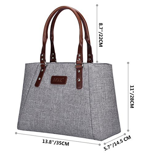 S-ZONE Women s Handbags Lightweight Large Tote Casual Work Bag ... 2347ec9a81fff