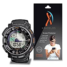 XShields© High Definition (HD+) Screen Protectors for Casio Protrek PRW 2500 (Maximum Clarity) Super Easy Installation [4-Pack] Lifetime Warranty, Advanced Touchscreen Accuracy