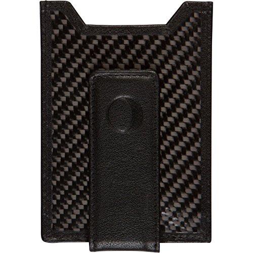 Best Money Clip and Front Pocket Wallet for Men - Carbon Fiber & Leather with Credit Card Holder & ID Case - RFID Blocking ... (Black)