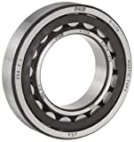 FAG NJ207E-TVP2-C3 Cylindrical Roller Bearing, Single Row, Straight Bore, Removable Inner Ring, Flanged, High Capacity, Polyamide/Nylon Cage, C3 Clearance, Metric, 35mm ID, 72mm OD, 17mm Width