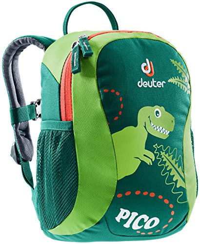 Deuter Pico Toddler's School and Hiking Backpack, Alpine Green/Kiwi (Nylon Backpack Alpine)