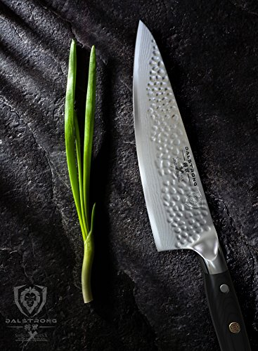 DALSTRONG Chef's Knife - Shogun Series X Gyuto - Japanese AUS-10V - Vacuum Treated - Hammered Finish - 8'' - w/ Guard by Dalstrong (Image #2)