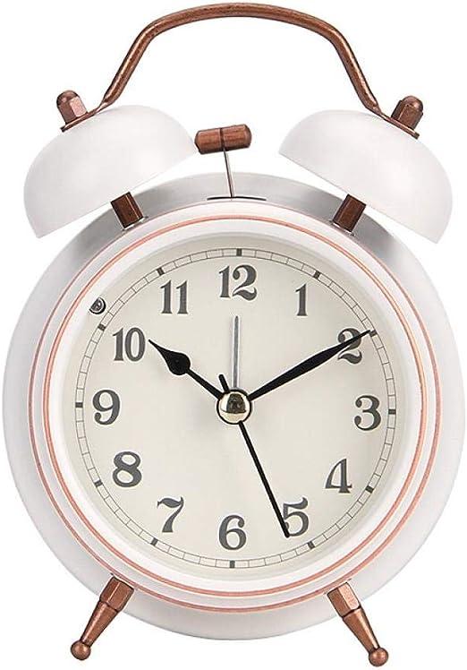 XXPF Reloj Despertador con Anillo de Metal Digital, Dormitorio ...