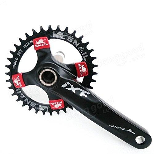 Bazaar 104mm vélo bicyclette étroite ovale large cercle plateau 32t 34t de 36t à une seule vitesse
